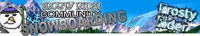 frosty rider snowboarding logo