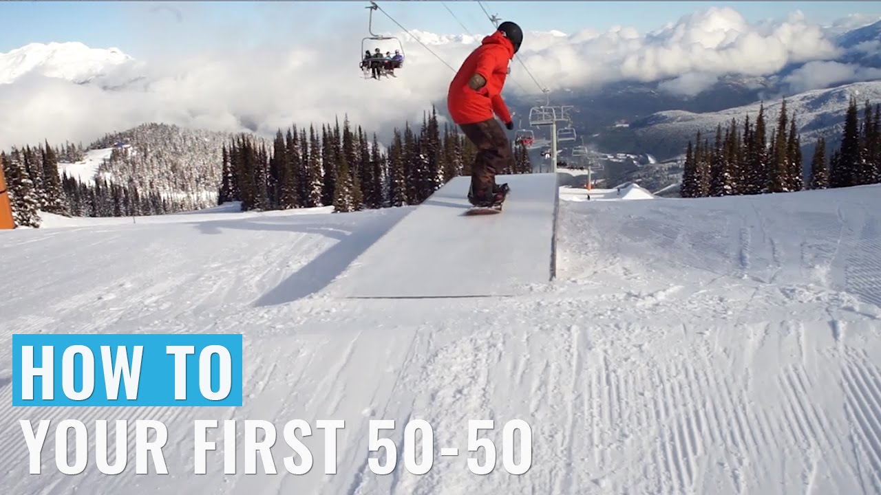 How To Do Your First 50-50 On A Snowboard