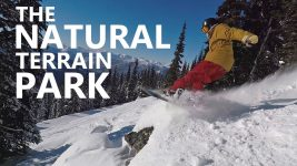 The Natural Terrain Park – Snowboard Jumps, Spins & Crashes