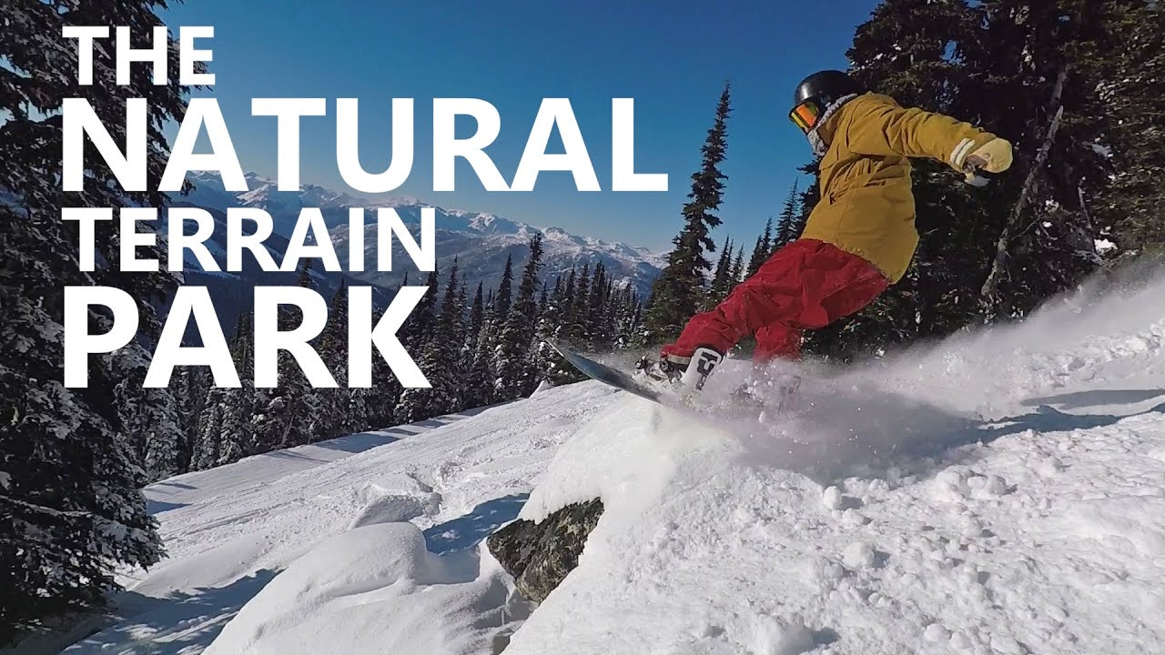 The Natural Terrain Park - Snowboard Jumps, Spins & Crashes