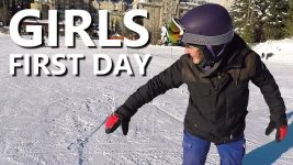 Girls First Day Snowboarding – Beginner Snowboard Tips